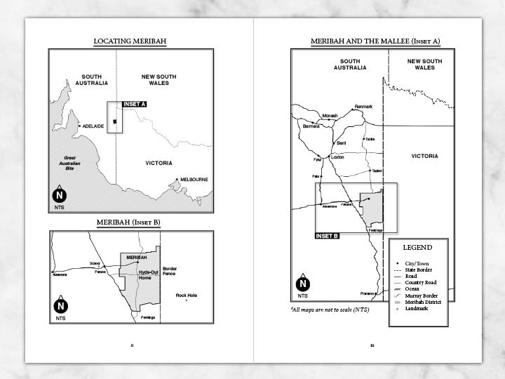 Self published books can include maps and diagrams