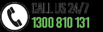 CALL US 24/7 ON 1300 810 131