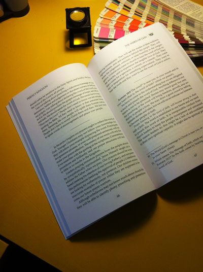 Image of high quality professional typesetting of book